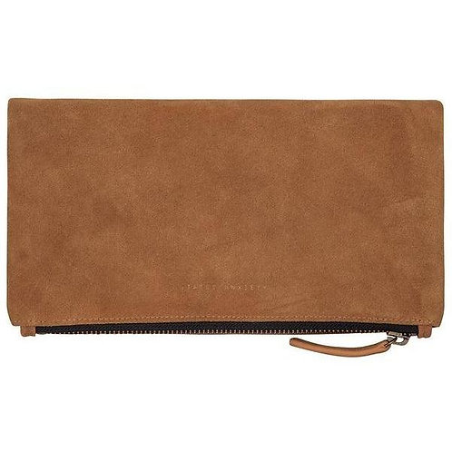 Tan Feel The Night Clutch Bag