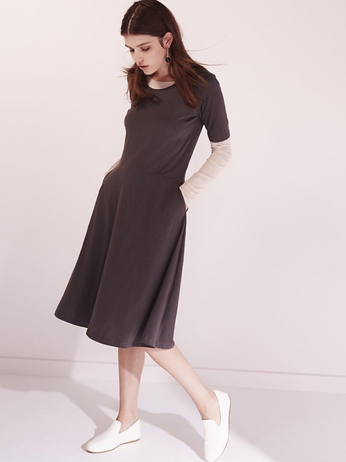 Charcoal Composure Dress