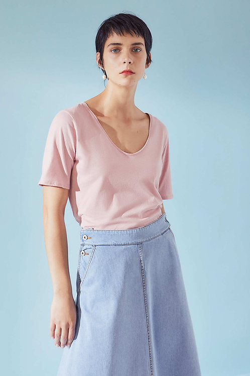 Chalky Pink Building Block V Tee