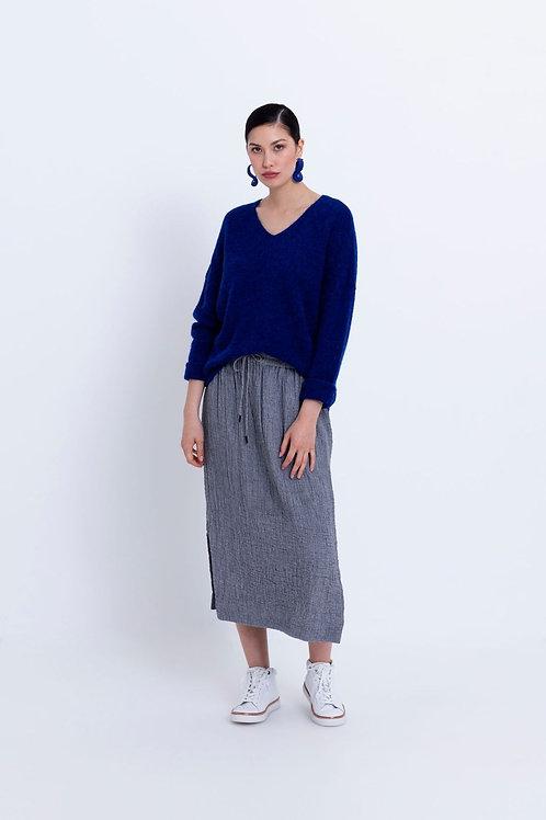 Grey Struktur Skirt