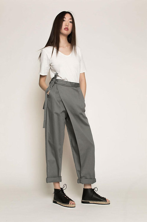 Dove Grey Side By Side Pants
