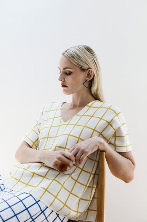 White+Yellow Lalm Sweater