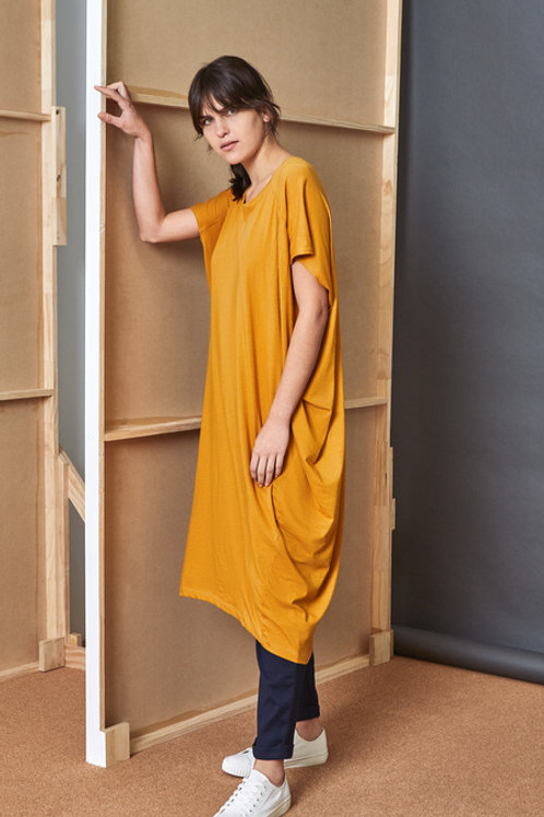 Amber Building Block Drape Dress