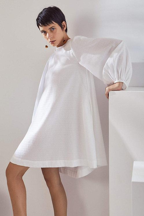 White Check Painter Dress