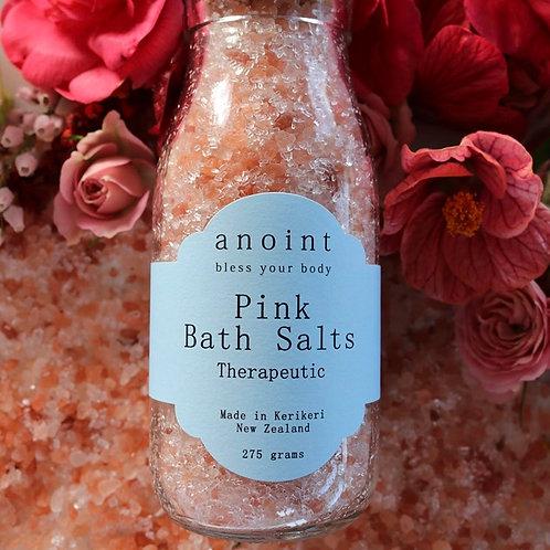 Pink Bath Salts Bottle
