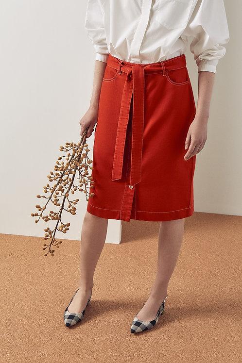 Brick Button Up Skirt