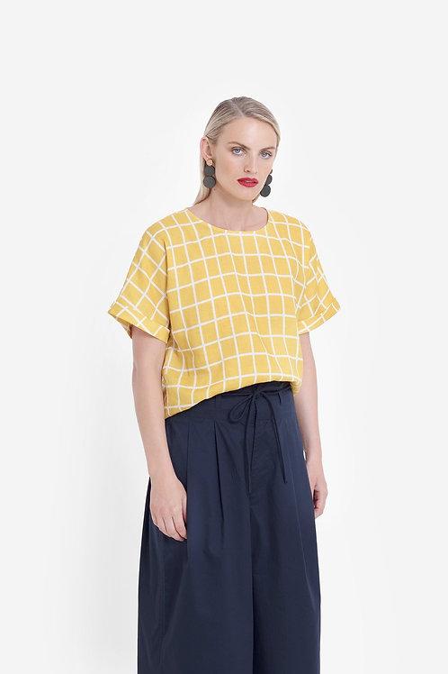 Yellow+White Hopen Top