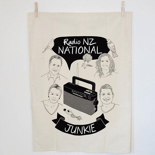 Radio NZ Junkie Tea Towel