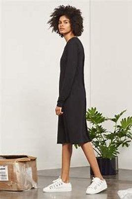 Black Building Block Long Sleeve Dress