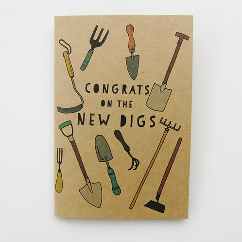 Greeting Card - Congrats on the New Digs