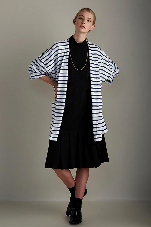 Blue+White Stripe Gesture Cardigan
