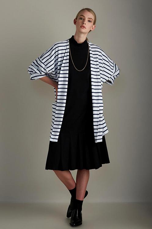 Blue+White Stripe Gesture Cardigan