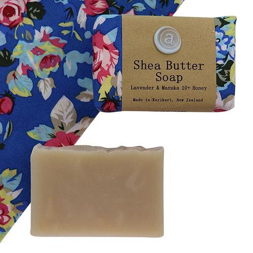 Shea Butter Soap – Vintage Floral Blue
