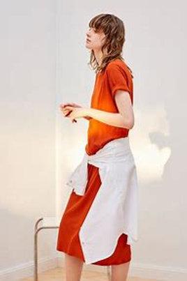 Burnt Orange Building Block Tee Shirt Dress