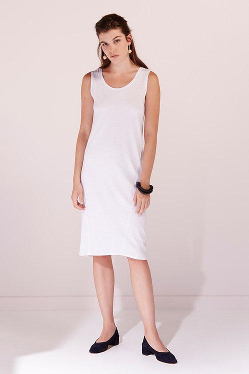 White Building Block Singlet Dress