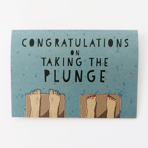 Greeting Card - Taking the Plunge