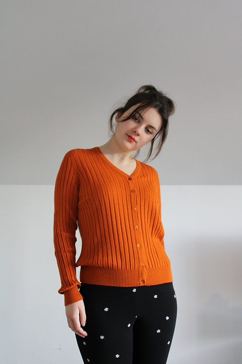 Burnt Orange Alice Cardigan