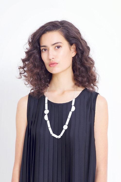White Eren Long Necklace