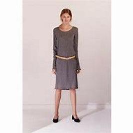Dark Grey Marle Building Block Long Sleeve Dress