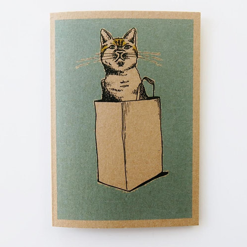 Greeting Card - The Cat's out of the Bag