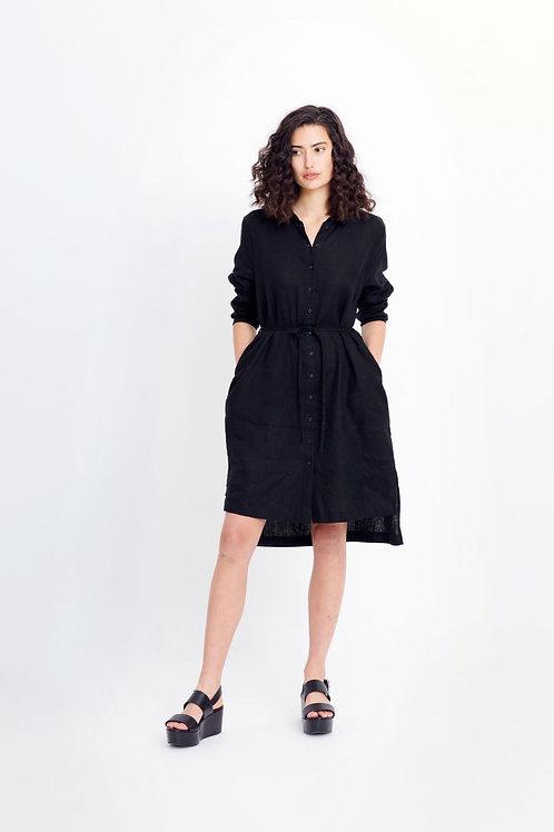 Black Flyte Linen Shirt (Dress)