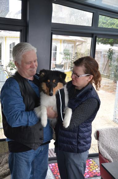 Frisco mit seiner neuen Familie Lindwall-Wahlberg von Schweden. Wir wünschen Euch alles Gute, viel Glück und Gesundheit.