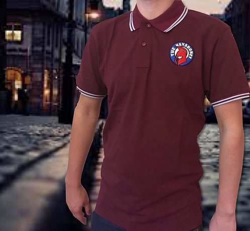 Nav Polo Mens Claret & Blue