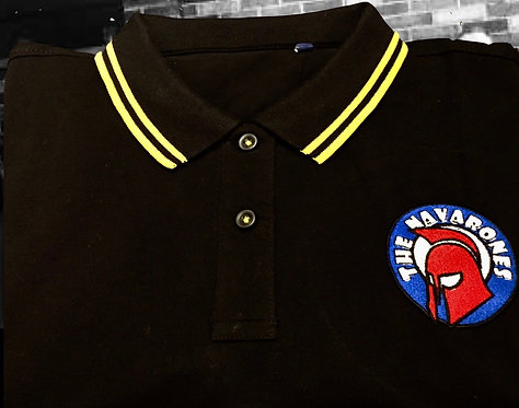 Navarones Ladies Polo Black & Yellow