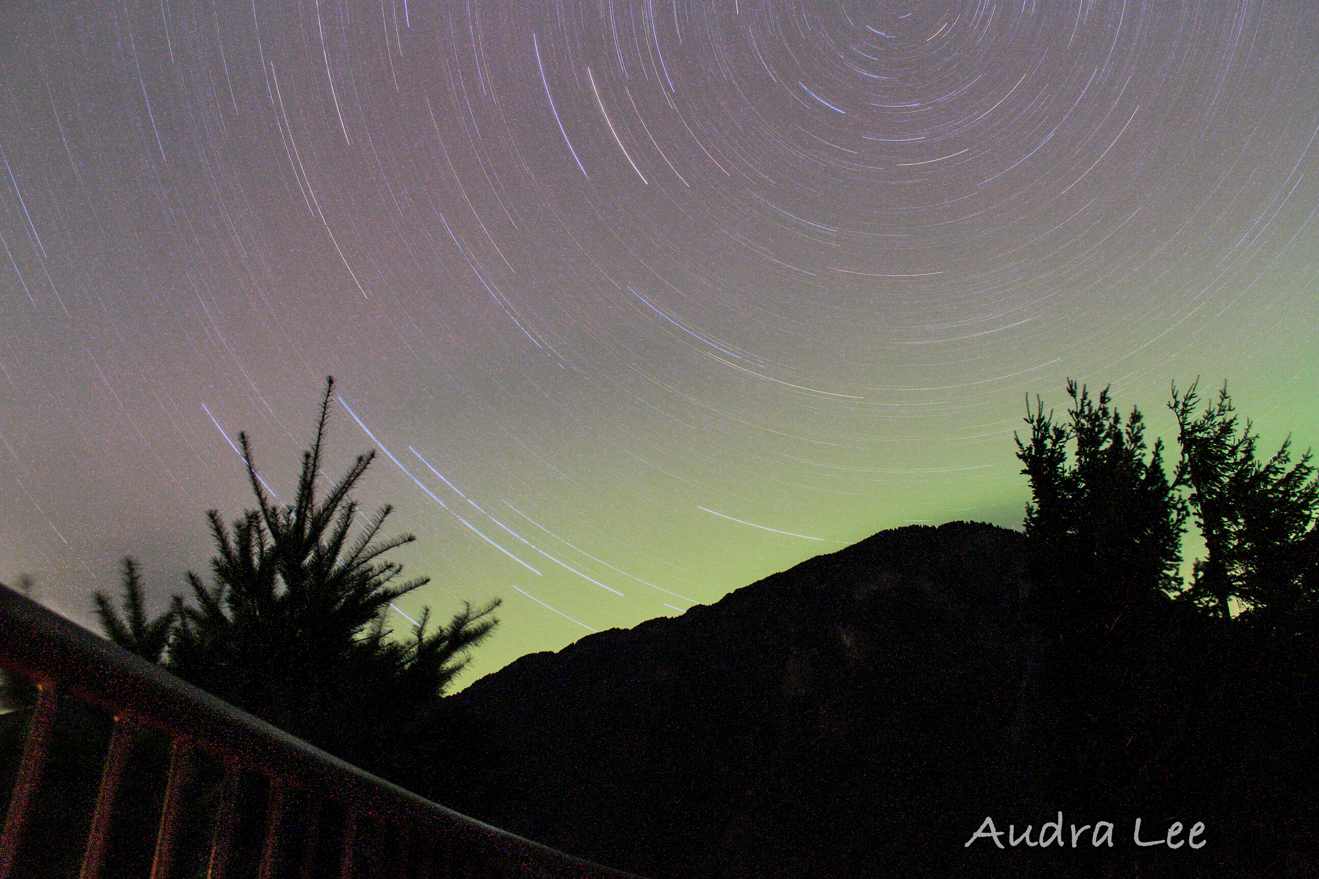 Sourdough Northern lights and  Star trail