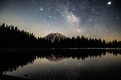 Milkyway and Mt Rainier