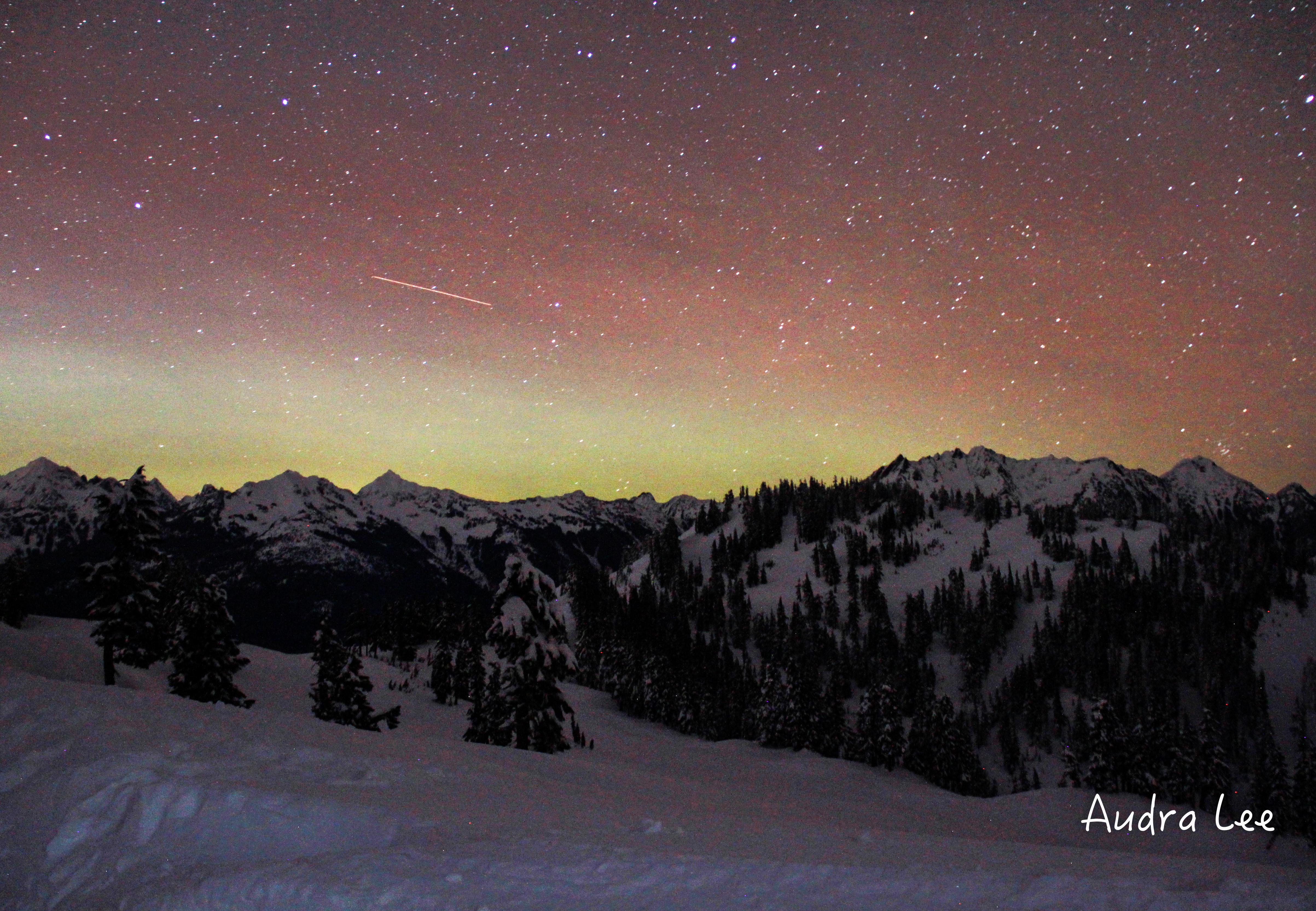 Auroras from Artist Point