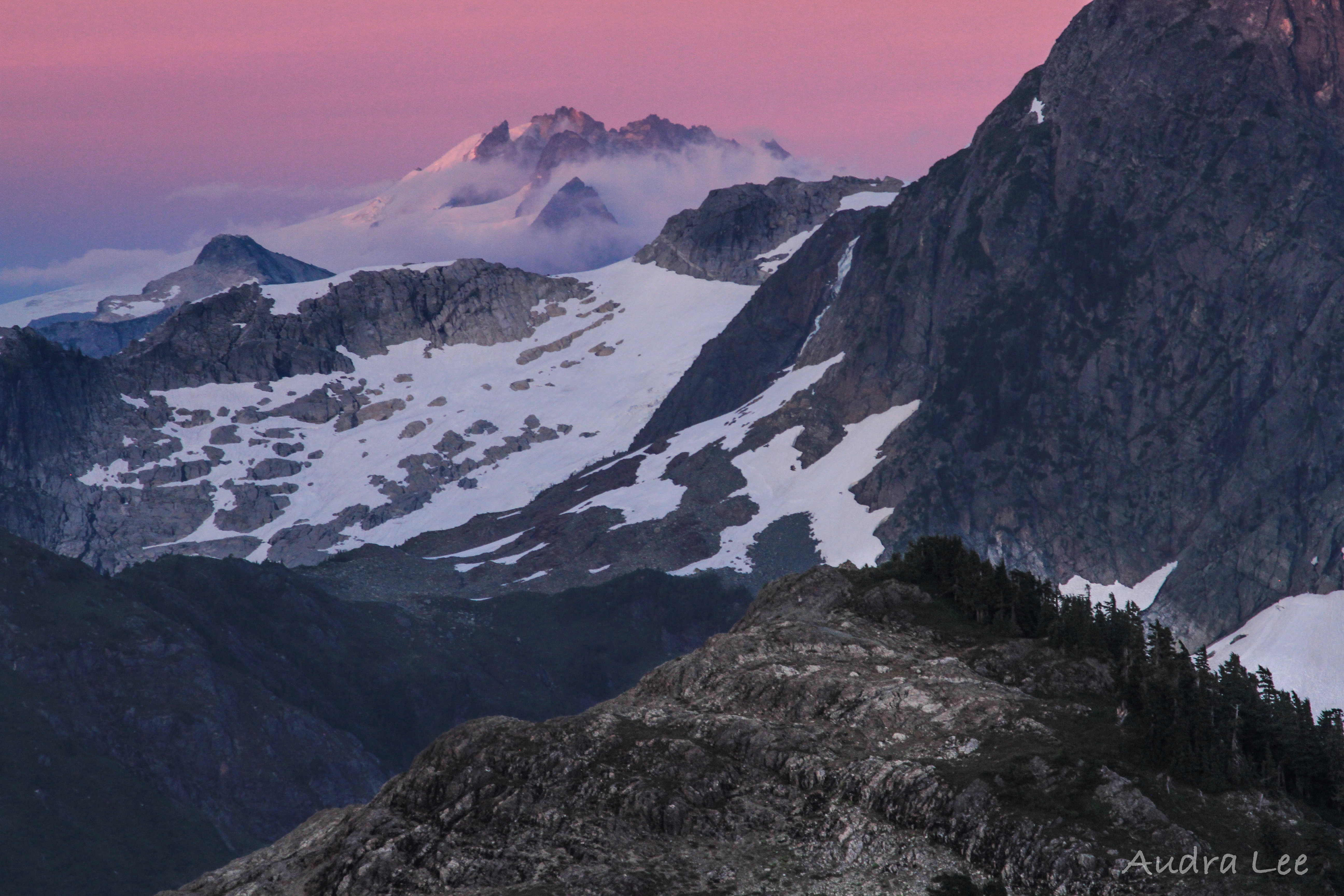 Mt Challenger Alpenglow
