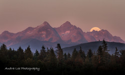 Moonrise over the Sisters