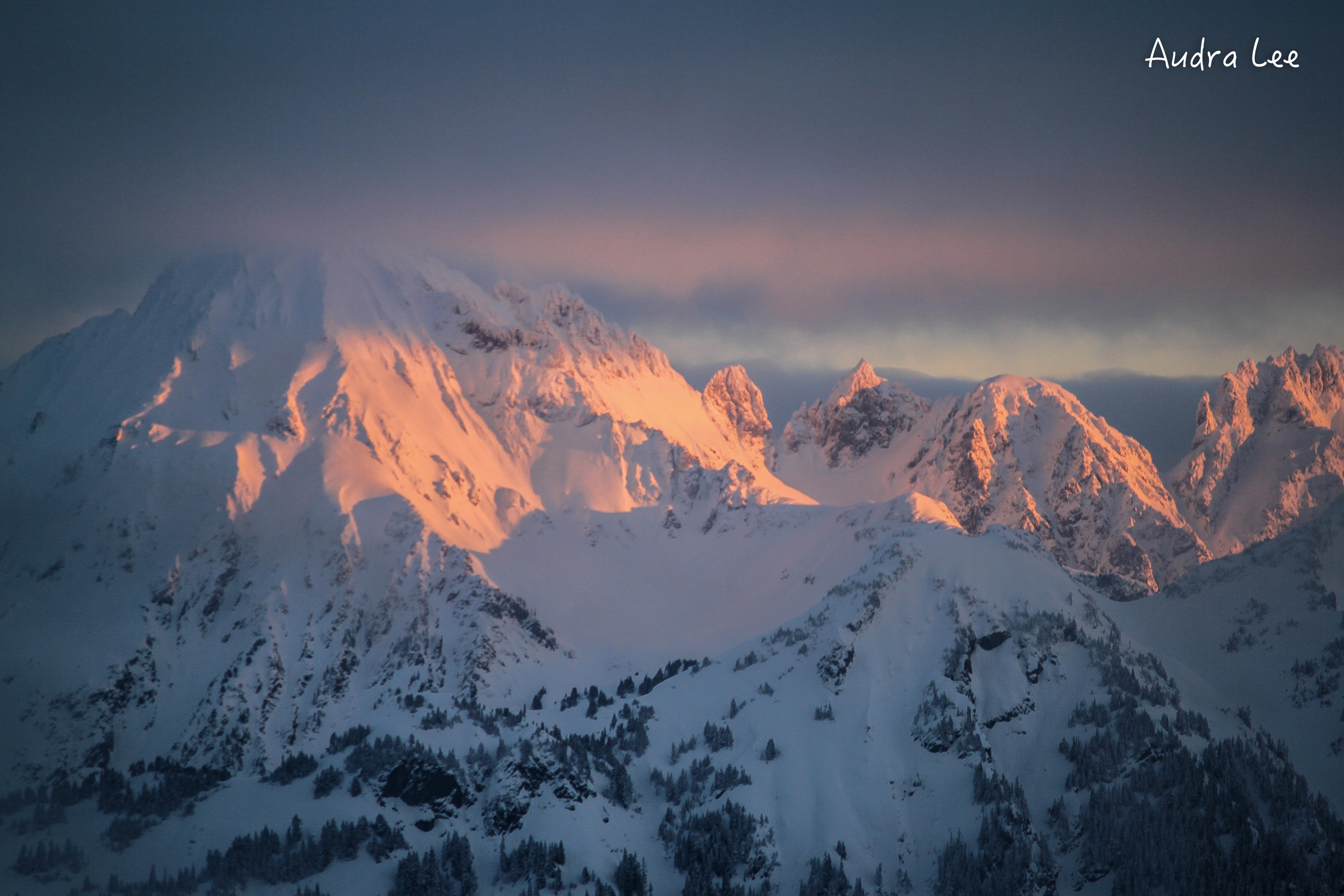 boarder peaks sunrise