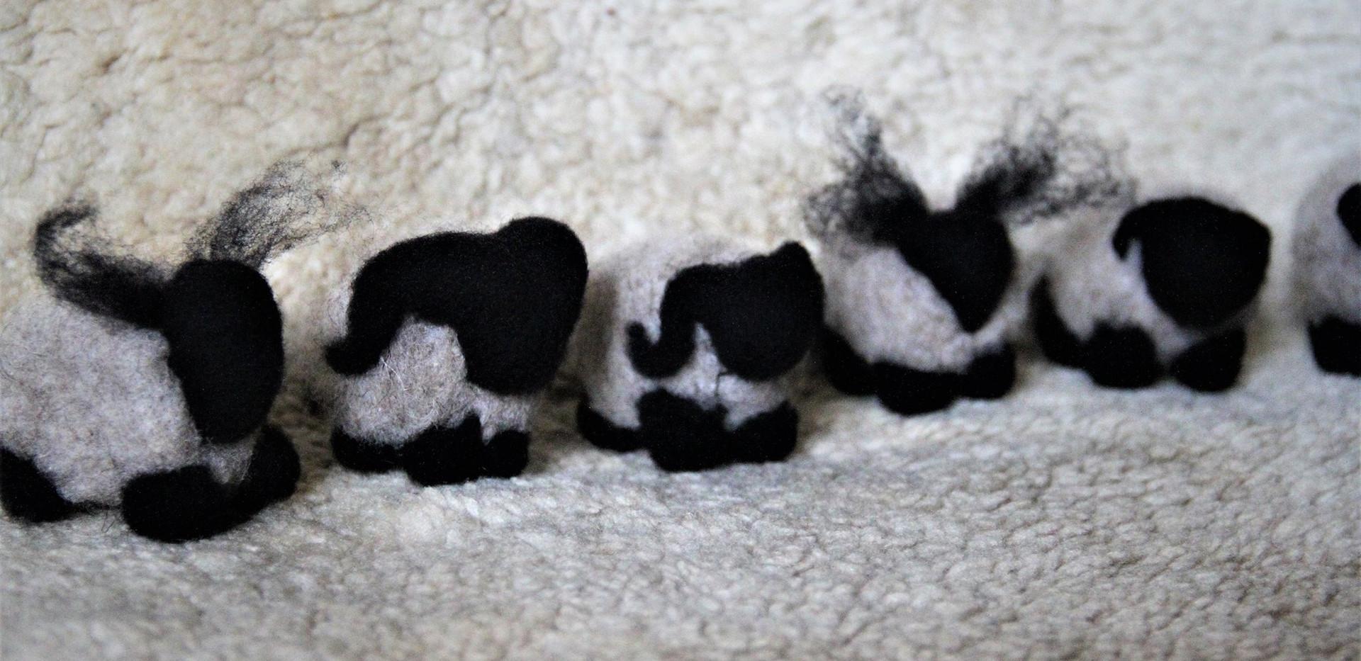 moutons feutrées