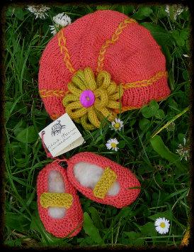 Bonnet et chaussons d'été