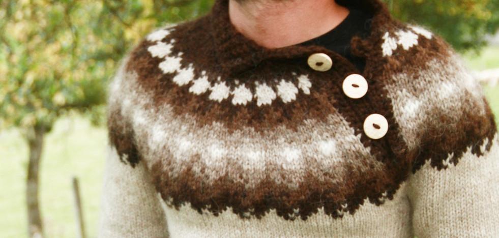 Pull traditionnel en mérinos d'Islande