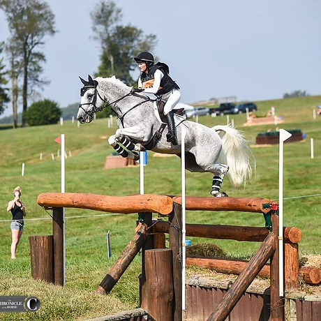 Emily Hamel and her superstar Corvett Eventing Equestrian