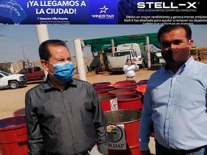 VIDEO: Entregan Alcalde de Agua Prieta y Director de OLDAP 100 barricas más para la basura.....