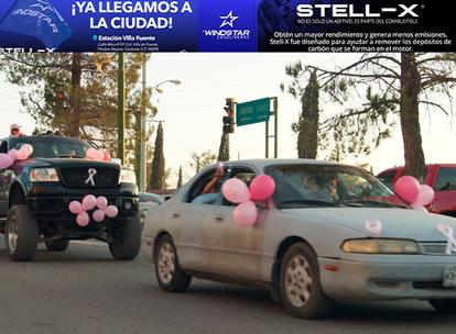 FOTOS: Celebra Agua Prieta su tradicional manifestación en contra del cáncer de mama