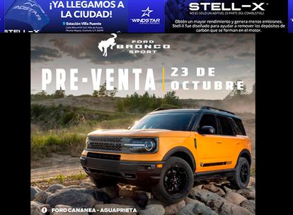 Inicia la pre-venta de Ford Bronco Sport…..aparta antes que nadie!!