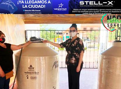 """Apoyan a los ganaderos de NACO con tinacos del Programa """"Almacenar Agua de Manera Óptima"""""""