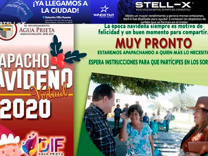 "Muy pronto, ""Apapacho Navideño 2020"", en Agua Prieta!"
