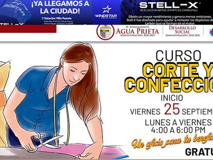 Ayuntamiento de AP invita a Curso de Corte y Confección gratuito: ¡Un oficio para tu beneficio!!