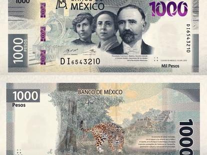 Presentan el nuevo billete de mil pesos