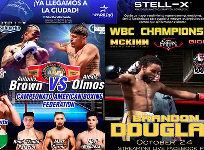 Este sábado 24 En Agua Prieta!! Peleas de boxeo de nivel mundial en vivo, sólo en LA TERRAZA SPORTS