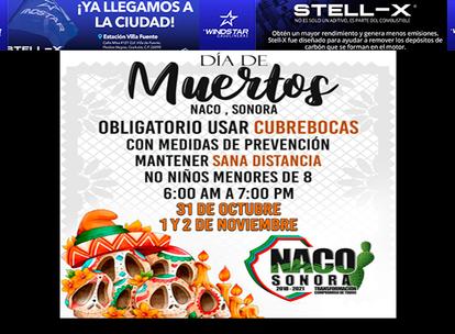 En NACO: Panteón Municipal estará abierto este Día De Muertos!