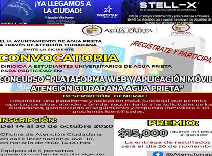 """Convoca Ayuntamiento a estudiantes universitarios al concurso: """"PLATAFORMA WEB Y APLICACIÓN MÓVIL"""""""