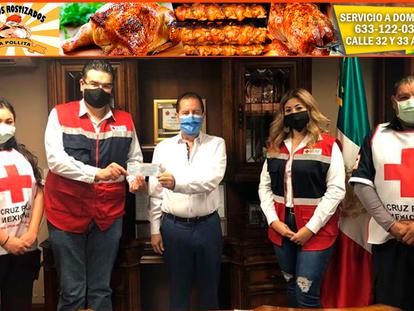 Pide Cruz Roja apoyo ya que no realizarán su colecta anual; entrega donativo Alcalde Jesús Alfonso M