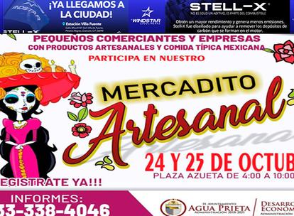 Se invita a comerciantes, artesanos y público en general al Mercadito Artesanal, en APSON